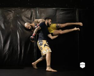 Enrique Marín Wasabi en Sutemi MMA junto a Jesús Blanco.